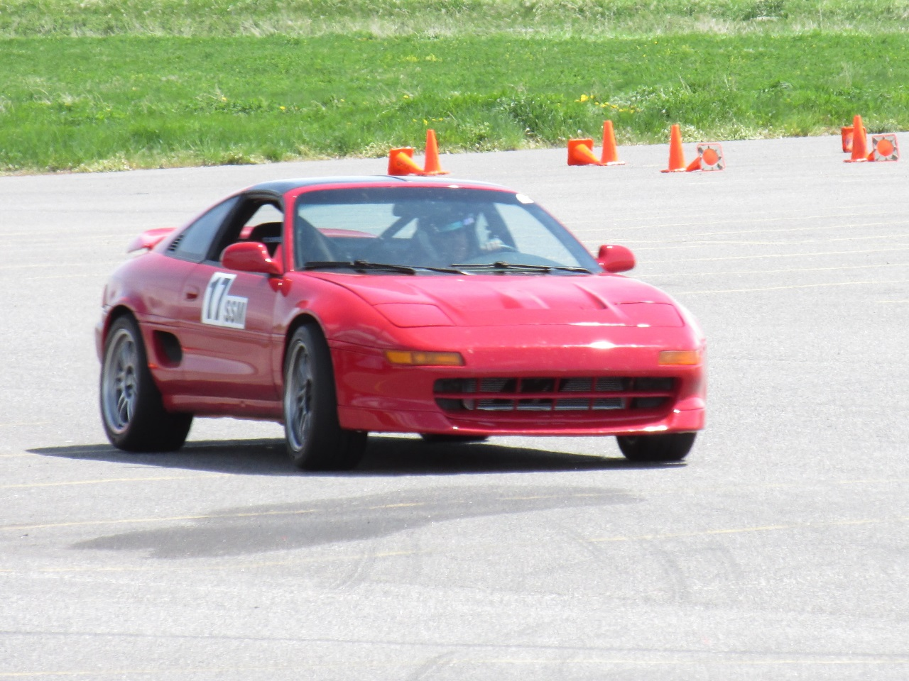 Wilhelm Race Works MR2 on autocross course