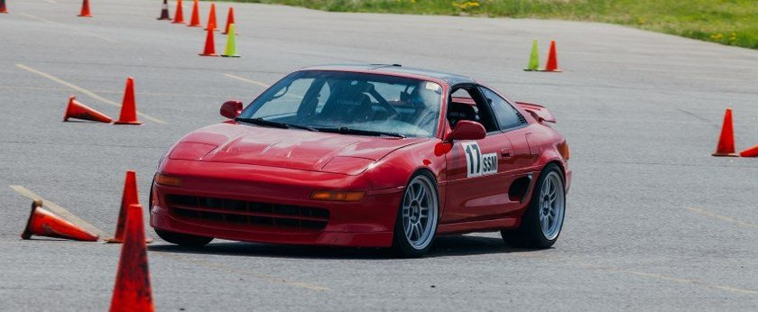 Wilhelm Raceworks MR2 on Autocross Course