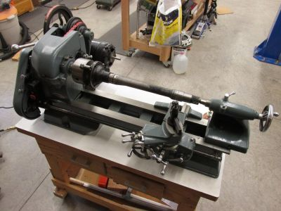 MR2 axle on lathe