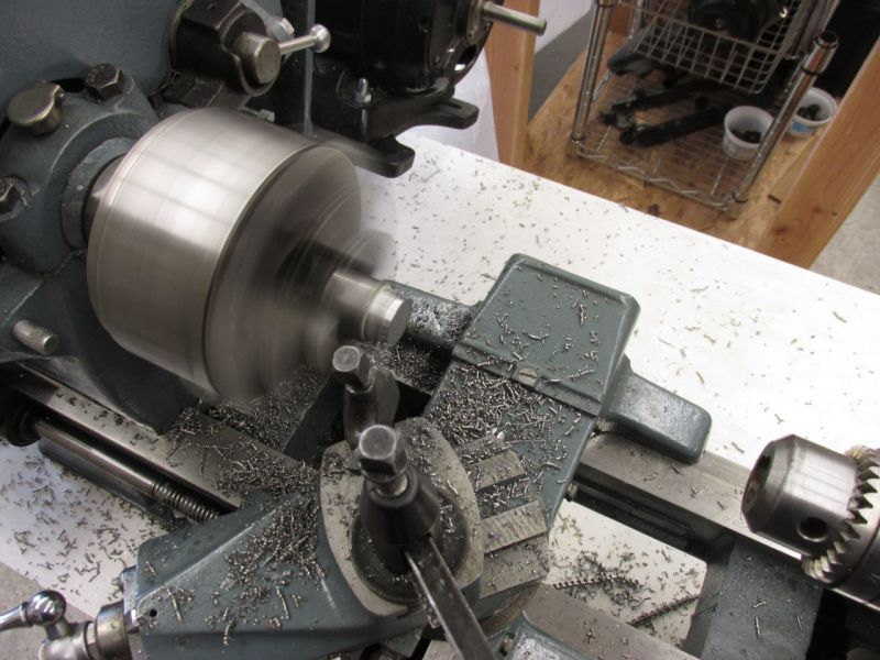 Turning rod end spacers on lathe