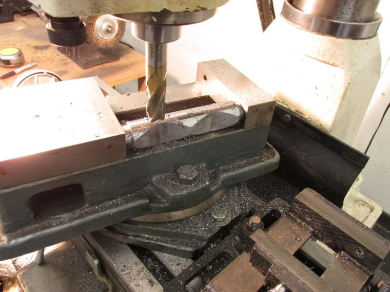 Maching front angled tube ends on mill