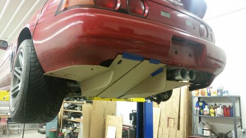 Cardboard mockup of MR2 rear diffuser