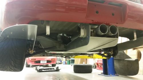 Diffuser center tunnel installed
