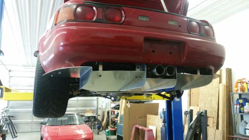 Sheet metal rear diffuser installed on MR2