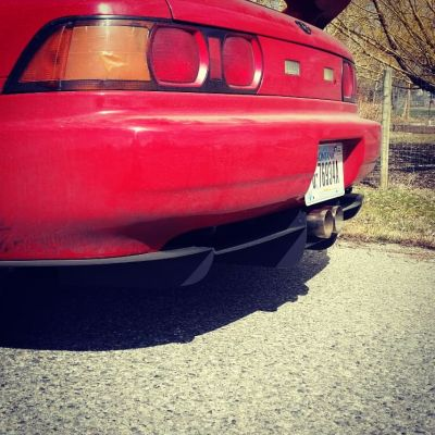 MR2 with custom rear diffuser and center exit exhaust