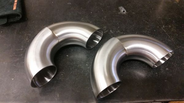 Elbows welded into 180° bends.