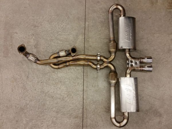 Custom dual exhaust with x-pipe for 2GR swapped MR2.
