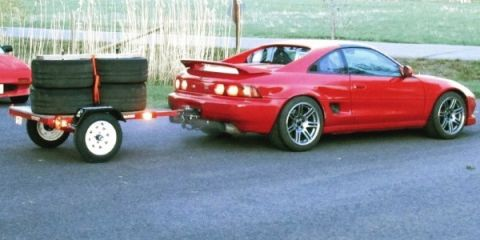 MR2 with tire trailer