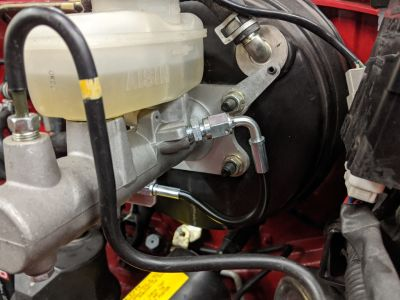 Adjustable proportioning valve non-ABS kit installed